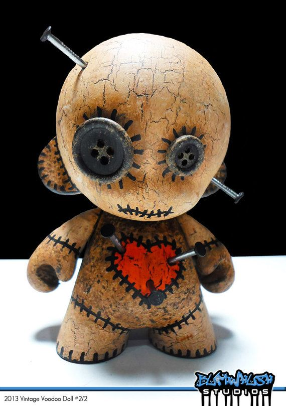 2013 Vintage Voodoo Doll Custom Munny Vinyl Toy with by Bumwhush