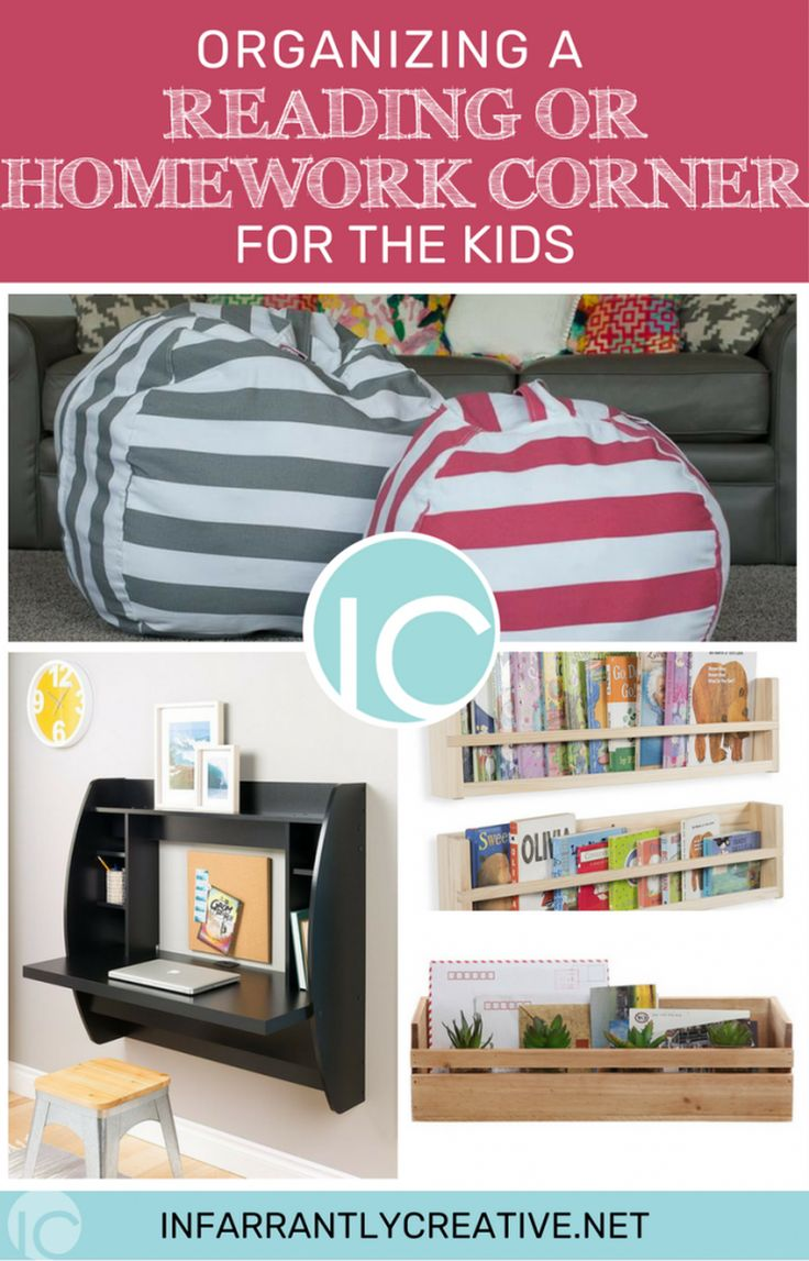 Organizing A Reading or Homework Corner for the Kids