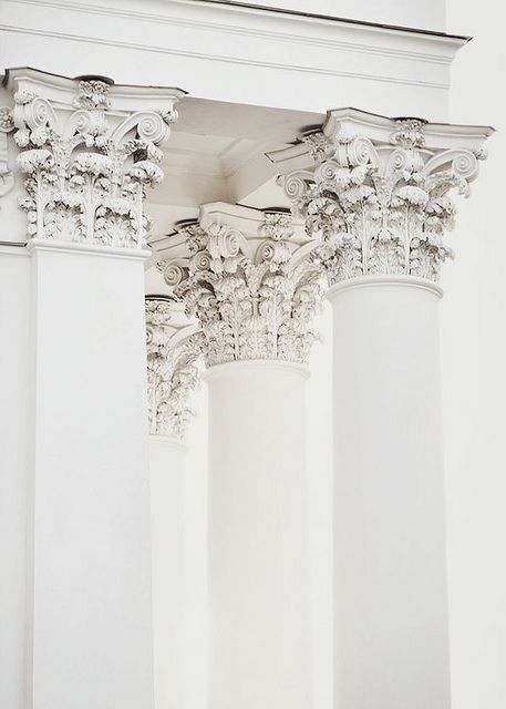 Absolutely beautiful columns.   The detail is so intricate &  keeps your eyes riveted on it.