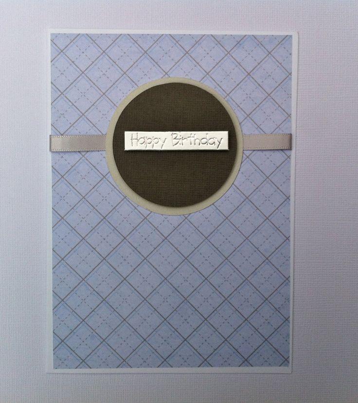 Handmade Birthday Card - Happy Birthday - Blue Card by HandmadeByLana on Etsy