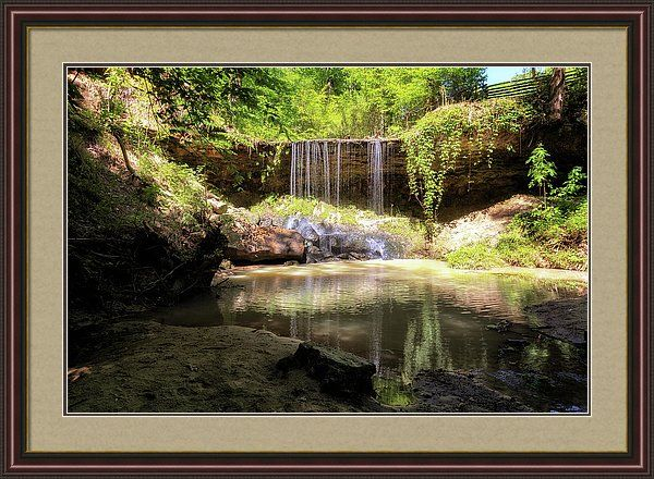 Mississippi Natchez Trace Waterfall Framed Print Featuring The Photograph Owens Creek Waterfall By Susan Rissi Tregonin Waterfall Art Framed Prints Waterfall