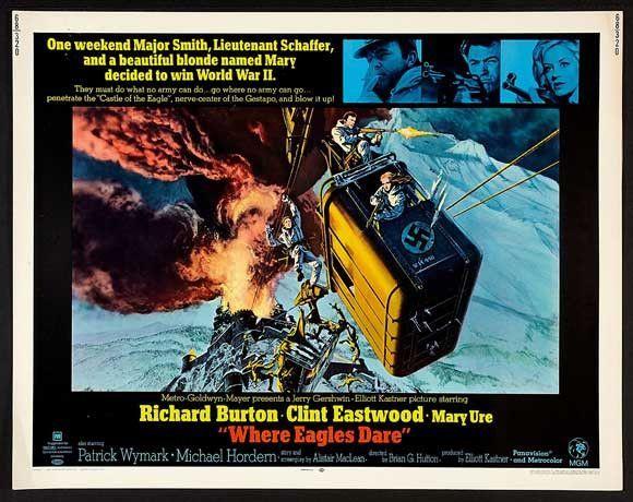 Where Eagles Dare 22x28 Movie Poster (1968)