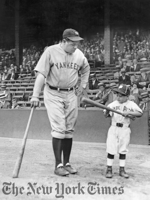 Babe Ruth and Fan - 1929