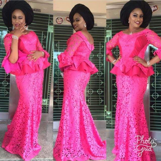 Nigerian lace styles for wedding can be a real asset to your style in general. here are gallery lace styles that can be worn to any wedding party of your