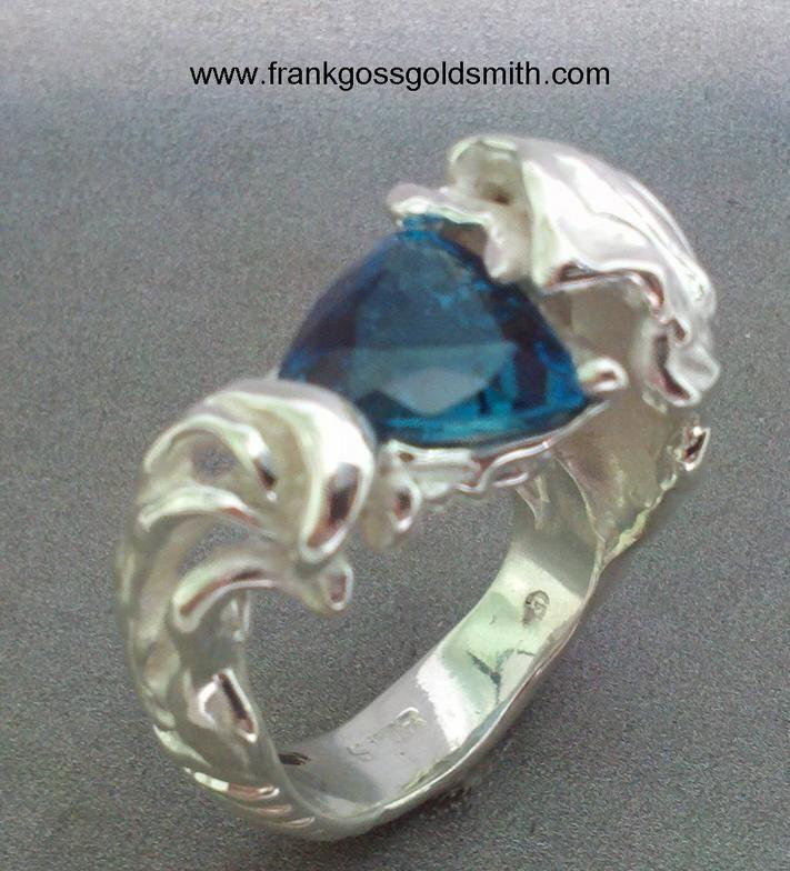 Blue Diamond Ring Set