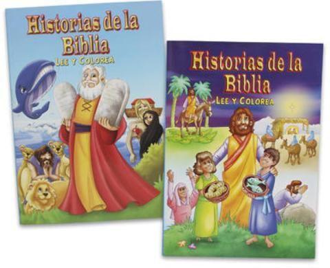Historias De La Biblia Coloring Book - Assorted - 240 Units
