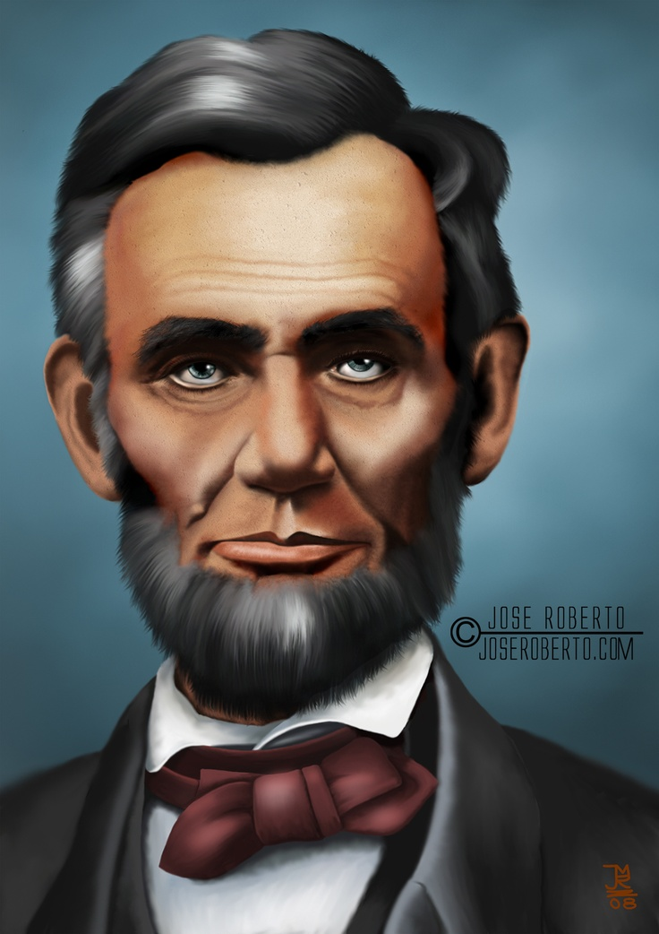 Abe Lincoln.  This painting is awesome!