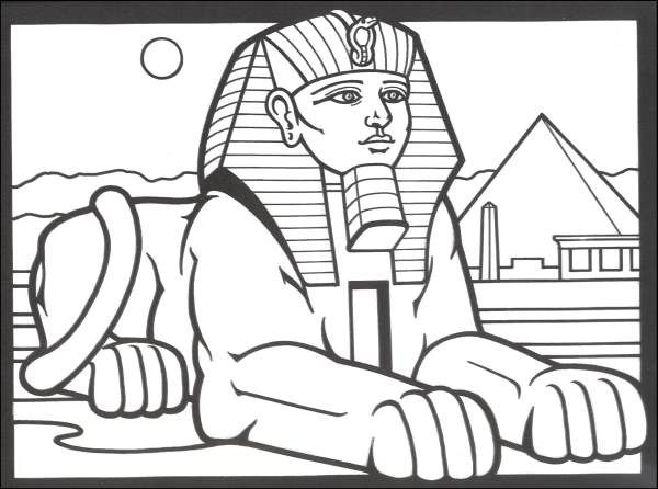 Cleopatra Coloring Pages Egyptian Stained Glass