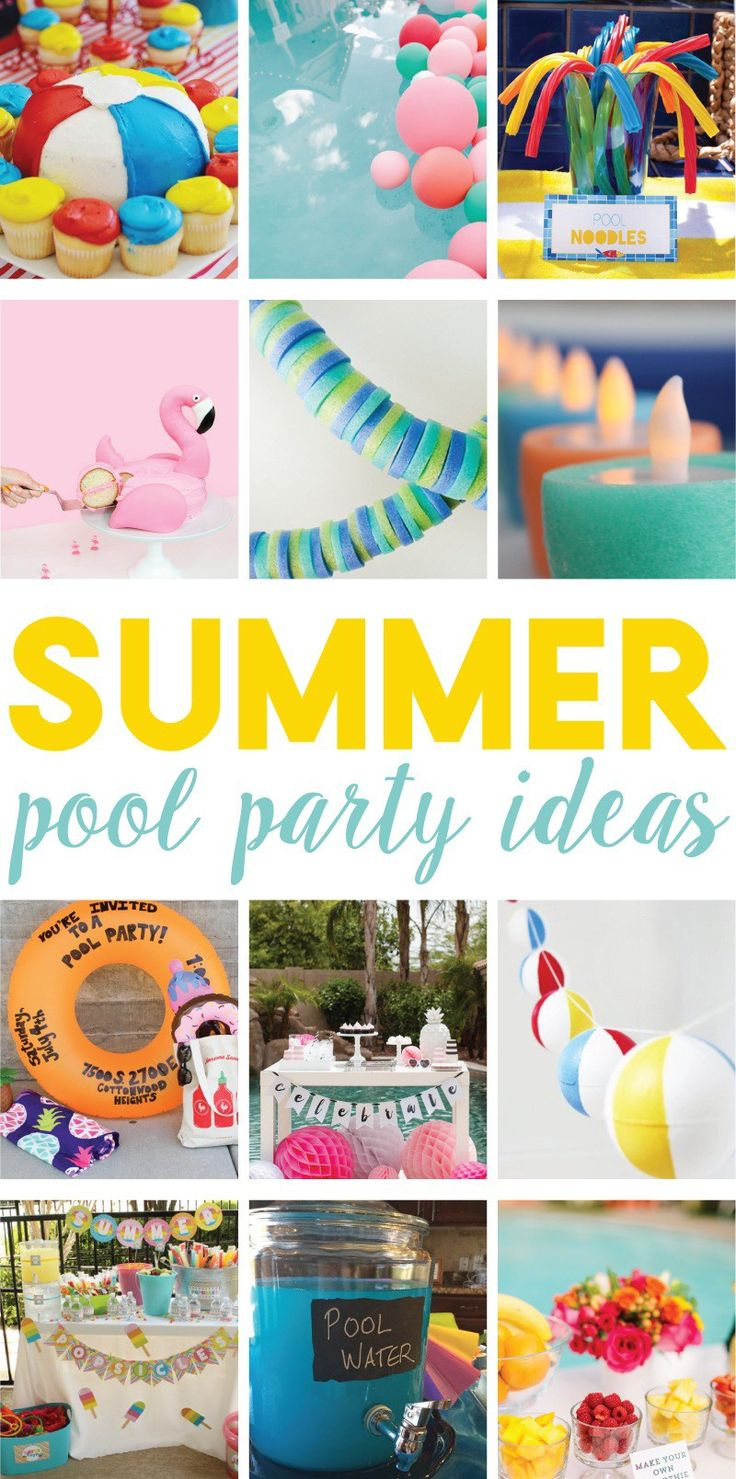12 Easy Summer Pool Party Ideas on Love the Day