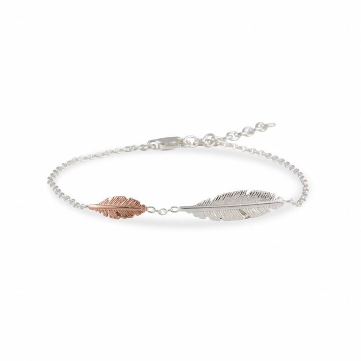 Light as a feather armband in zilver