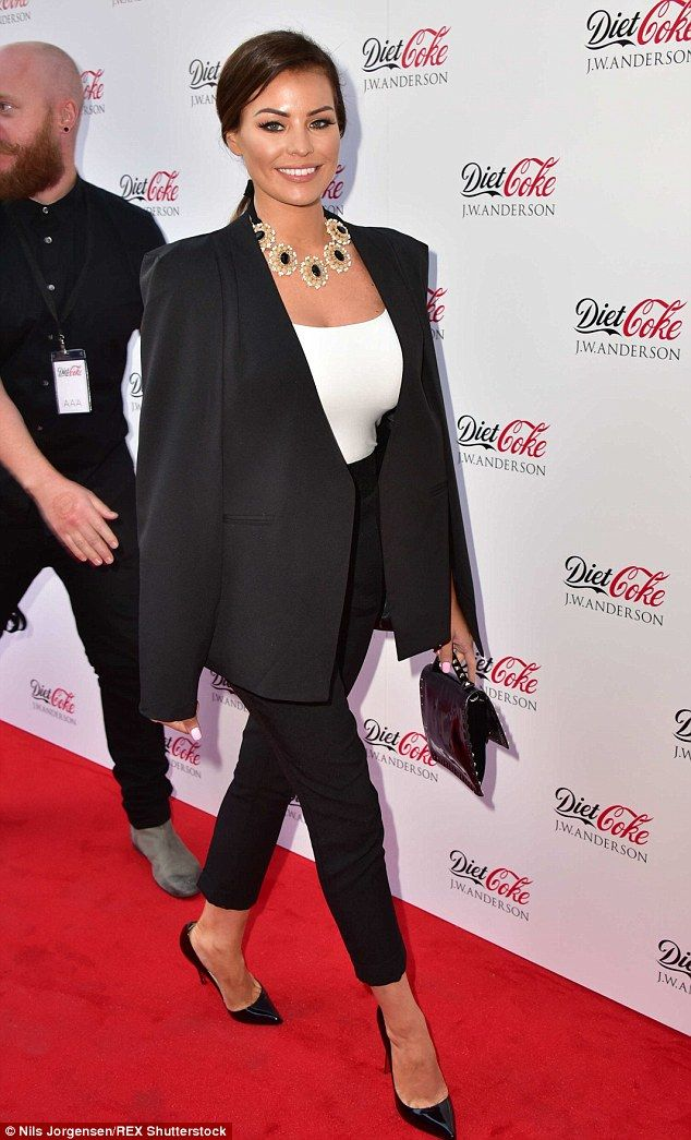 Hot to trot: TOWIE's Jessica Wright looked chic as she turned out for theDiet Coke x J.W....