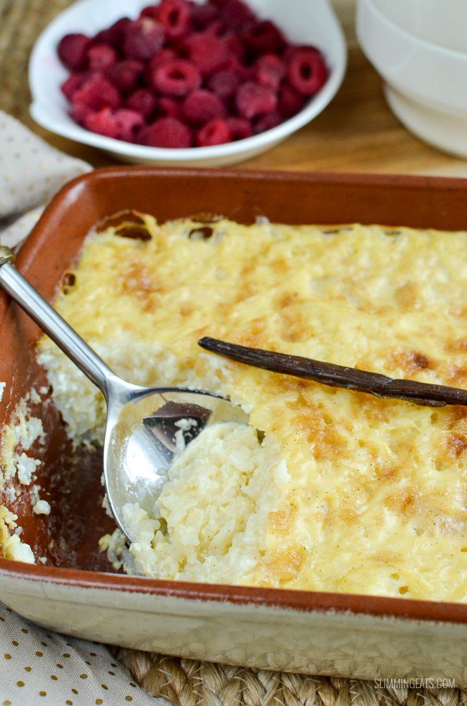 Forget regular rice pudding, this Low Syn Baked White Chocolate Rice Pudding is to die for!! Perfect for breakfast or dessert with fruit.