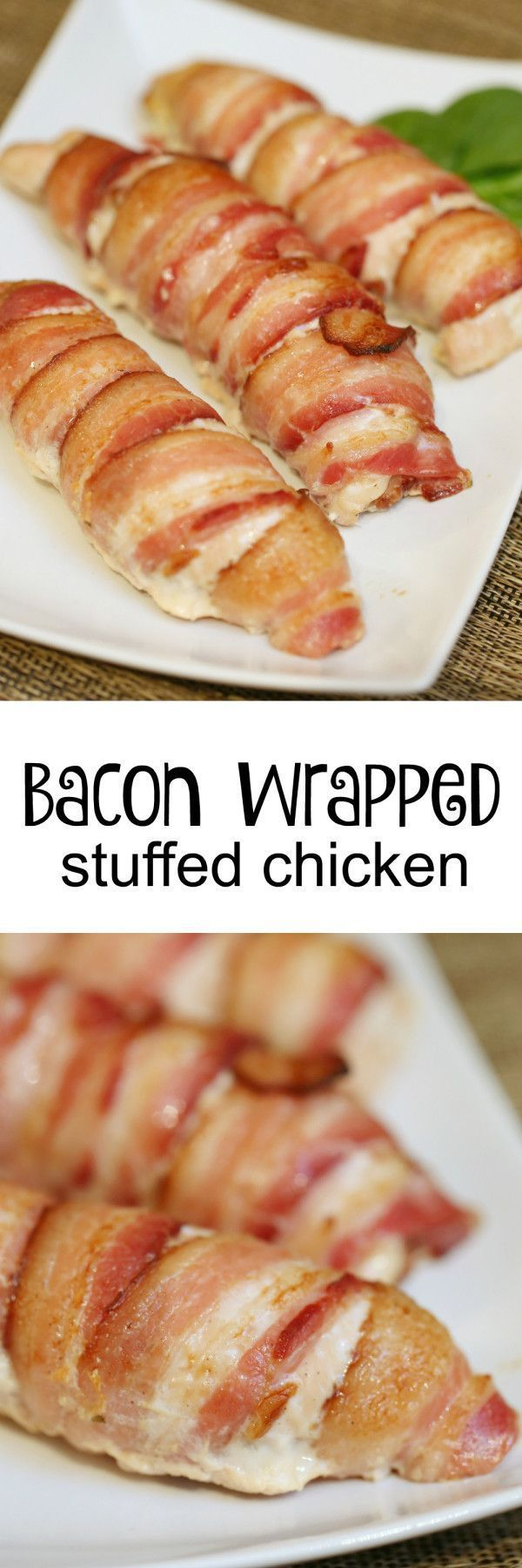With a mouthful name like, 'Bacon Wrapped Stuffed Chicken' you'd assume it be a complicated and time-consuming recipe. It IS a mouthful of delicious ..