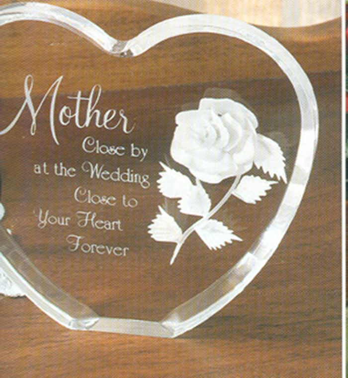"CC Heart, $27:  sentimental acrylic heart for fabulous Mother's gift.   About 5"" wide.  gift boxed."