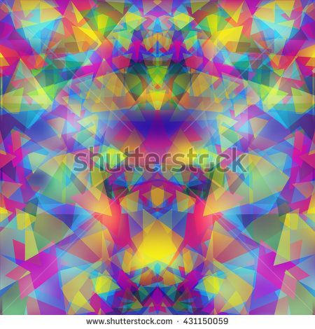Modern geometric odd background, vector image.  - stock vector