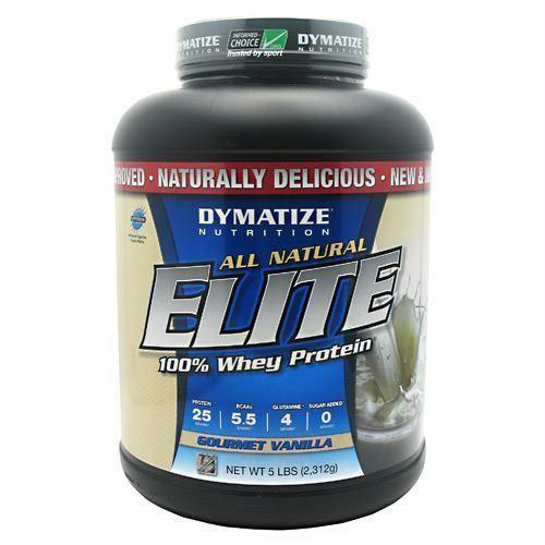 Dymatize All Natural Elite Whey Protein Isolate Gourmet Vanilla - Gluten Free