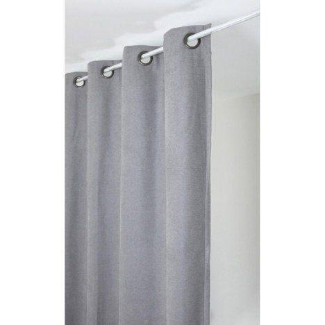 Rideau Alaska, gris clair, l.140 x H.260 cm