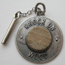 Vintage Sterling Touch Wood Charm Beau