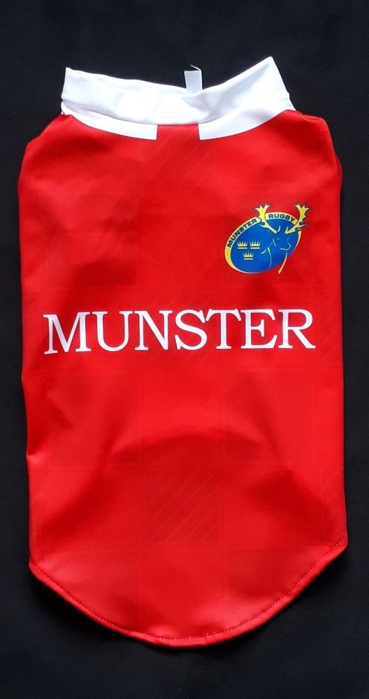 6852f6471 MUNSTER RUGBY DOG T-SHIRT JERSEY SIZE 5 | Dog Loving | Munster rugby ...