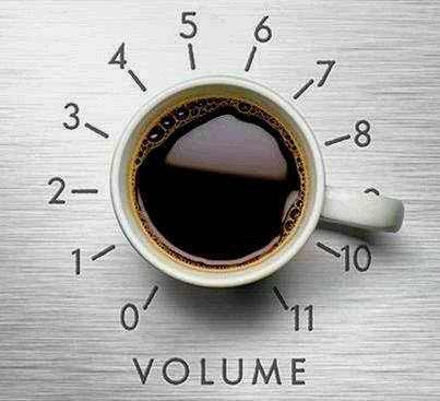 Pump up the volume #coffee. I have a new appreciation for coffee since I went without yesterday