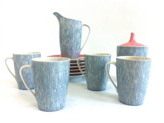 Polish Mid Century Porcelain Coffee Tea Demitasse Set by judeslore, $62.00