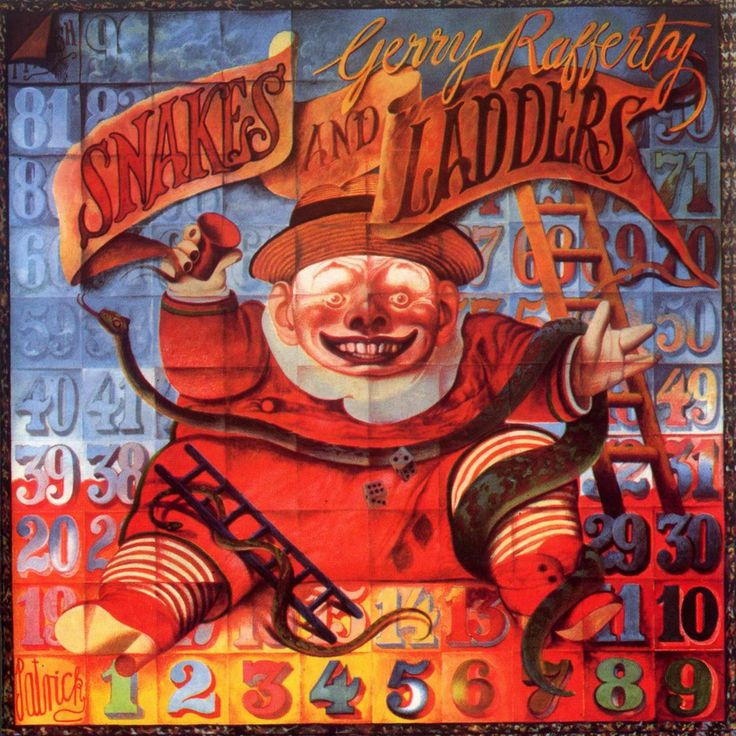 John Byrne 1980 Gerry Rafferty - Snakes And Ladders [United Artists 27-322-7] #albumcover