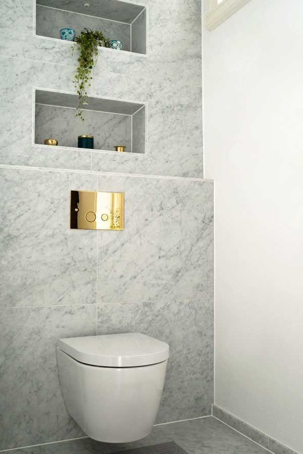 Carrara marmor i badrummet