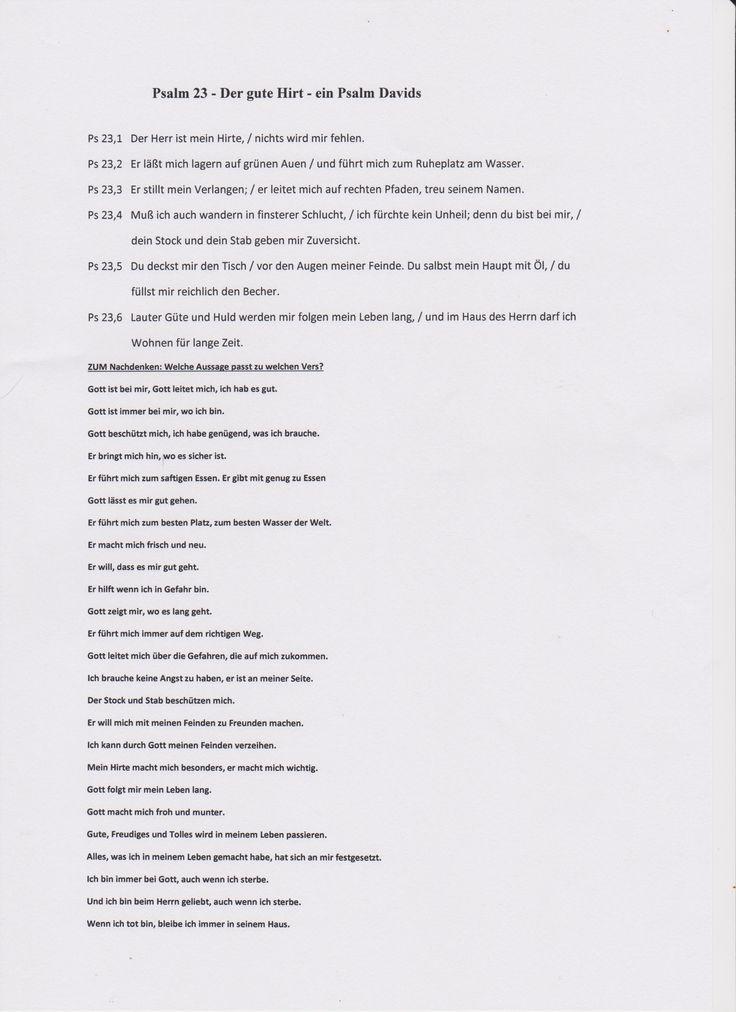 18 best Psalm 23, katholische Arbeitsblätter für Kinder images on ...
