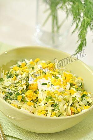 Салат из капусты Весеннее утро