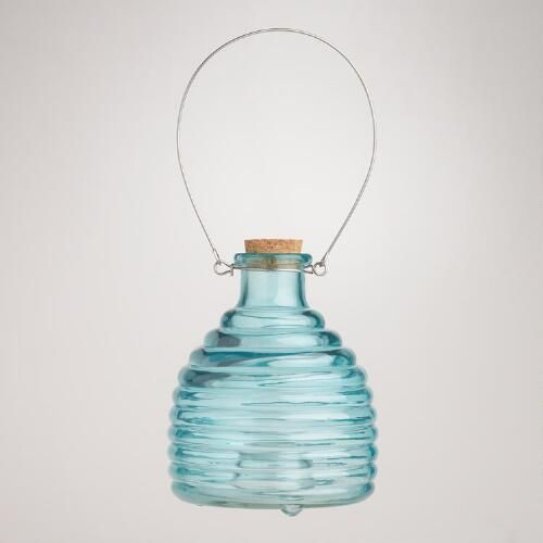 One of my favorite discoveries at WorldMarket.com: Glass Wasp Catcher, Blue