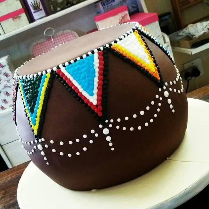 Traditional zulu ukhomba cake