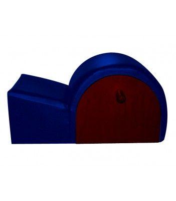 Spine Corrector :: Legno Scuro - Blu