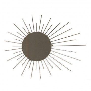 Miroir m tal dor soleil sorci re vintage ann es 50 astro for Miroir annees 50