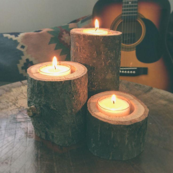 Natural wood candle sets. https://www.etsy.com/shop/2NAD