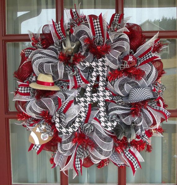 Hey, I found this really awesome Etsy listing at https://www.etsy.com/listing/170815547/alabama-deco-mesh-wreath-alabama-wreath