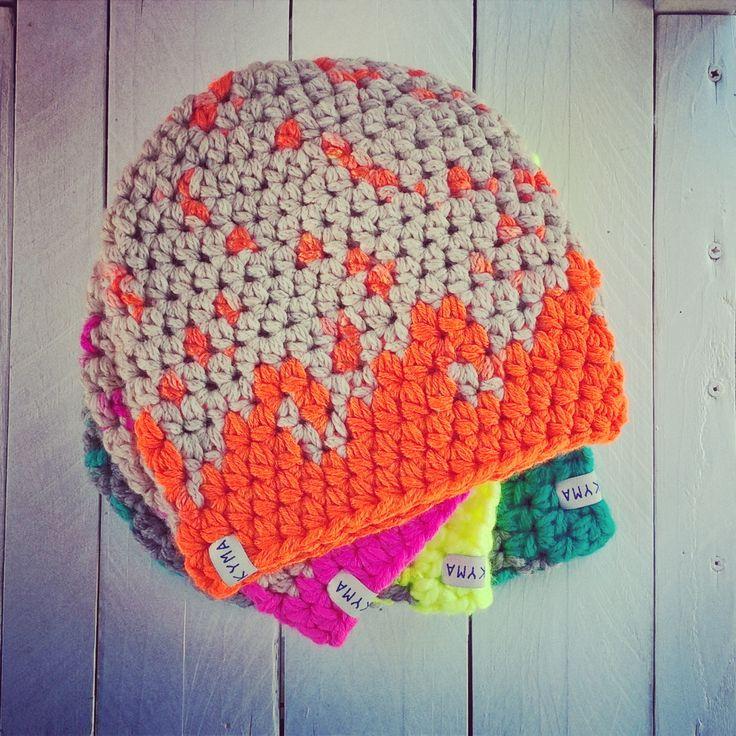 handmade ~ surfer beanie ~ surf beanie ~ crochet hat ~ neon wave  ~ surfstyle ~ http://kymastyle.com - shop: http://kymastyle.dawanda.com
