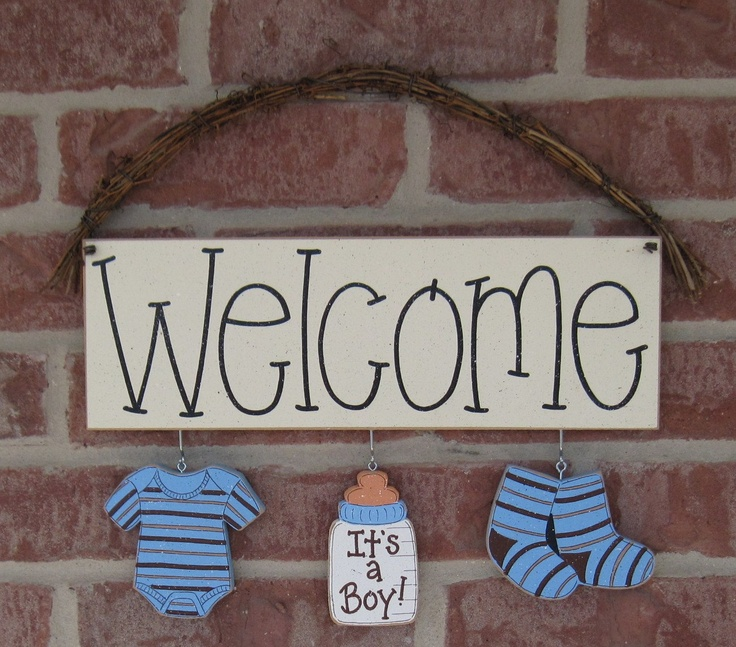 Welcome its a boy decorations no sign included for for Welcome home baby shower decorations