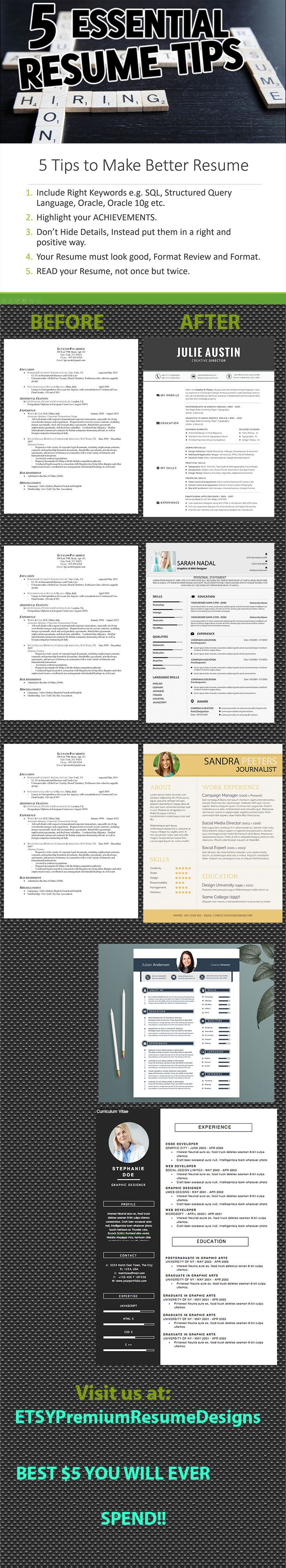 22 best Easy to edit Resume templete, cv templete images on ...