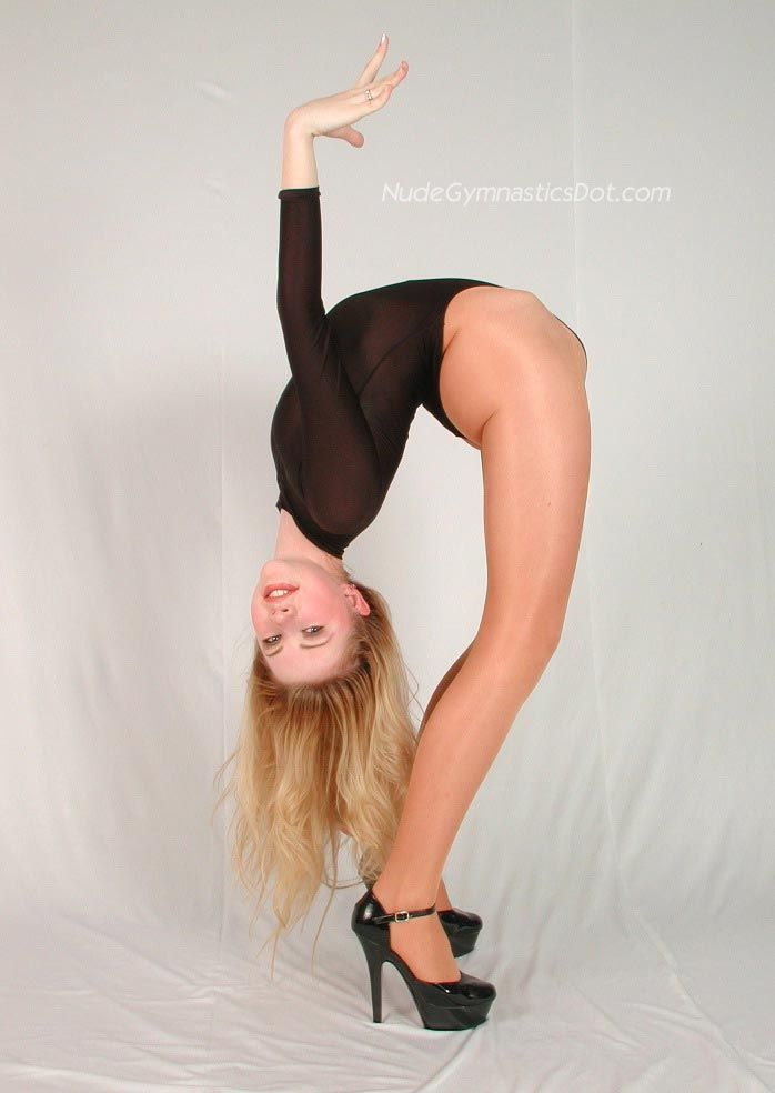 nude gymnast extreme poses
