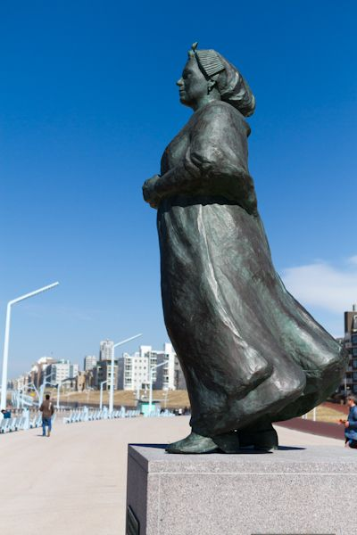 Statute of a Vissersvrouw (Fisherman's wife) on Scheveningen Boulevard in The Hague