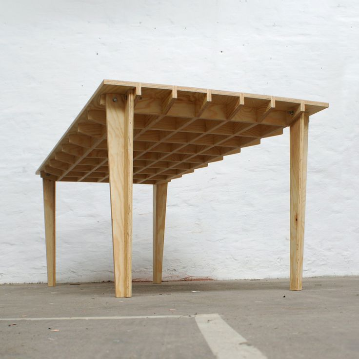 "Plywood table...the first step toward making a ""true-top"". With a bottom skin as well, it becomes a ""stressed-skin"" - ""Torsion Box"" ... a tremendously strong, flat table. ( credit Ian Kirby Studio, Atlanta. c.1982)"
