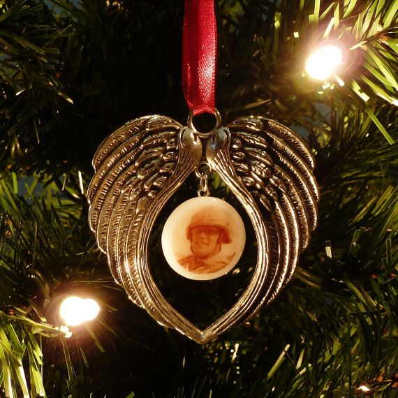 Memorial Christmas Ornament - Personalized Memorial Gifts - Photo Ornament - In Loving Memory - Memorial Gift Ideas - Forever In Our Hearts