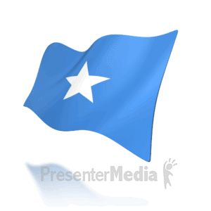 This animation shows the Somalia flag at a perspective angle waving. #powerpoint #animations