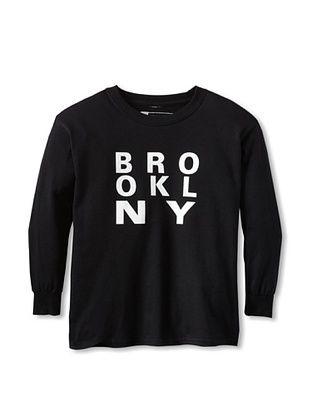 69% OFF Little Dilascia Kid's Brooklyn New York Long Sleeve Tee (Black)