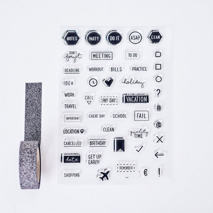 """Stempel dir die Welt, wie sie dir gefällt. Mit dem süßen """"I'm so busy""""-Stempelset kannst du deine Kalender und Notizbücher zu ganz eigenen Kunstwerken gestalten.   Die Clearstamps kannst du einfach von der Folie ziehen und auf einen..."""