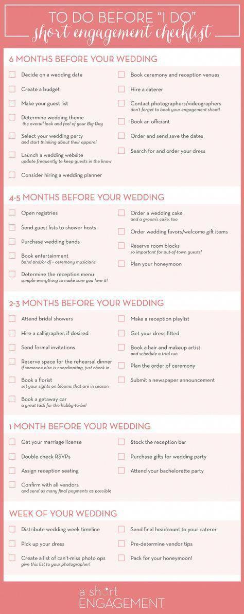 Comment planifier votre mariage dans six mois ou moins (plus un calendrier de planification gratuit!) – Wedding Ideas