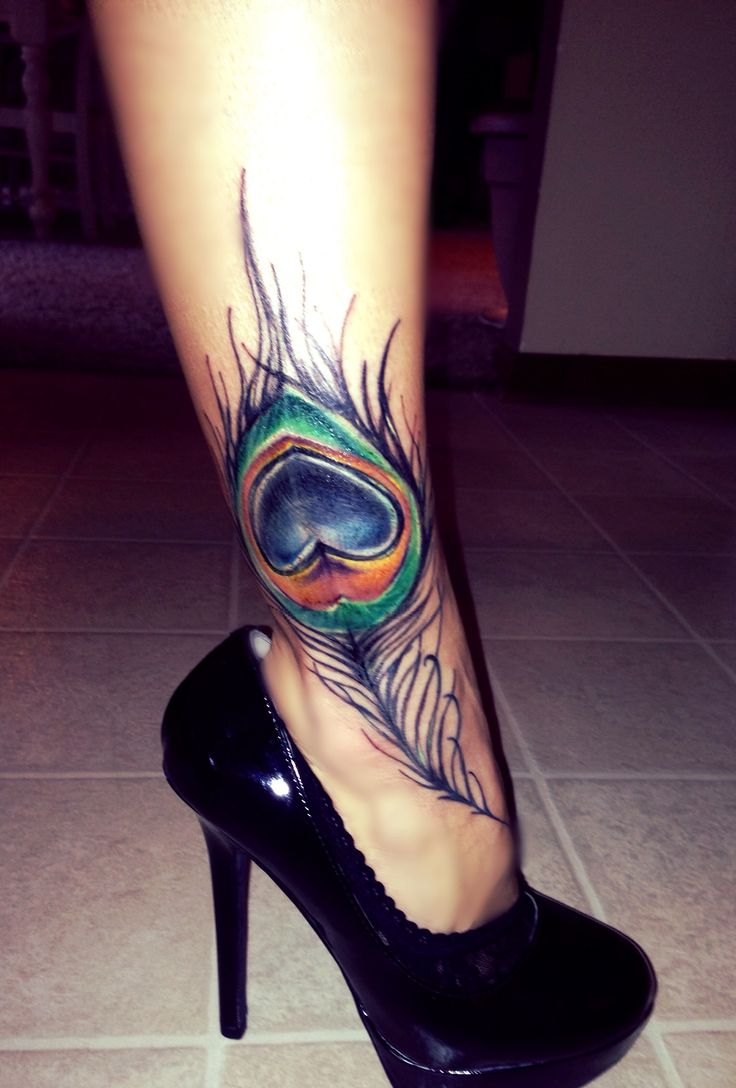 Peacock tattoo..would be so cute to cover the one on my ankle