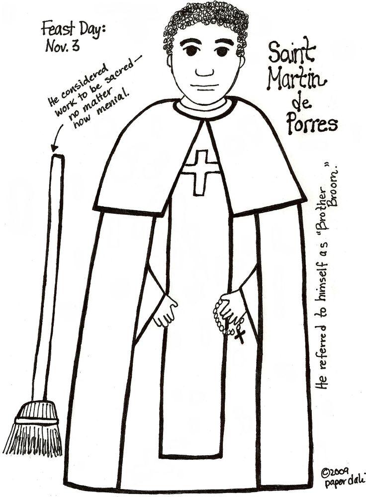 St Martin De Porres Coloring Sheet