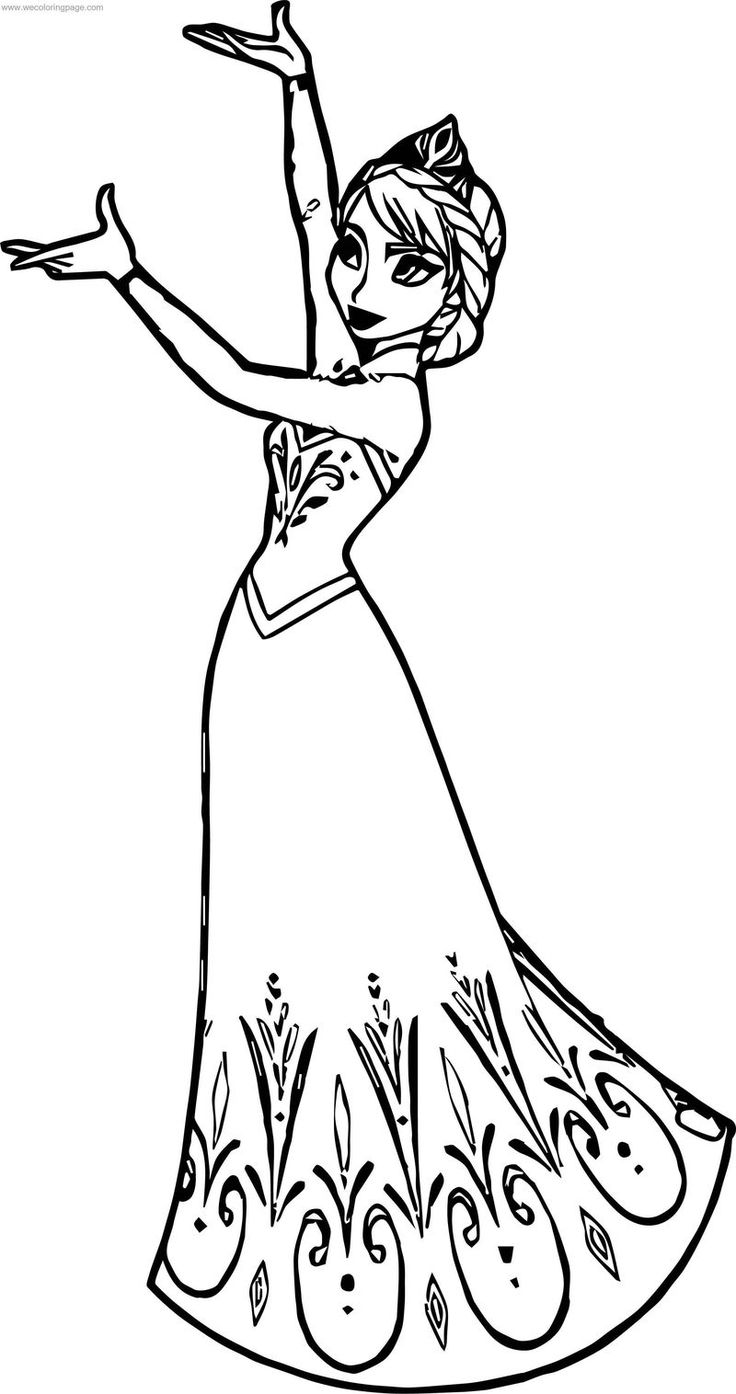 Elsa Queen This Coloring Page di 2020