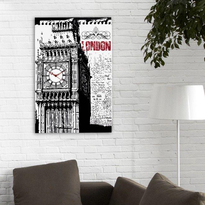 P3562 - BIG BEN di PINTDECOR  cm 40x60  Decorato a mano su struttura telata.  #orologio #p3562 #big #ben #pintdecor #london #quadro